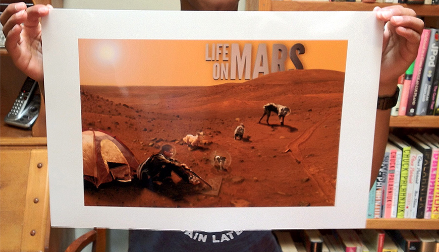 Life on Mars photo composite