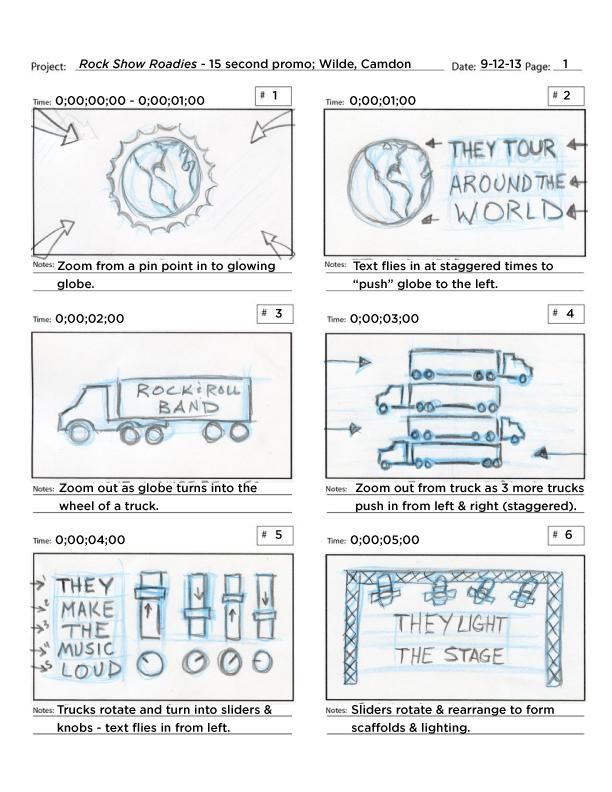 Storyboards – Rockshow Roadies